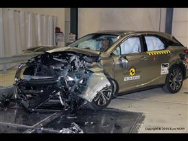 Lexus RX - Frontal Offset Impact test 2015 - after crash