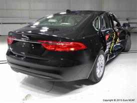 Jaguar XF  - Side crash test 2015 - after crash