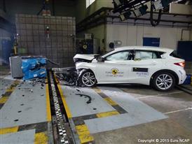 Infiniti Q30- Frontal Offset Impact test 2015 - after crash