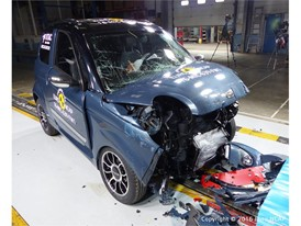 Microcar M.GO Family Frontal crash test 2016 - after crash