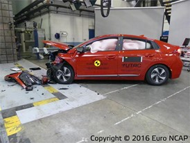 Hyundai Ioniq- Frontal Offset Impact test 2016 - after crash
