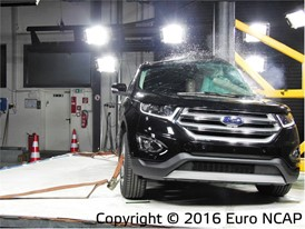 Ford Edge- Pole crash test 2016