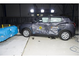 SsangYong Tivoli - Side crash test 2016 - after crash