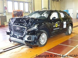 Audi Q2 - Frontal Full Width test 2016 - after crash