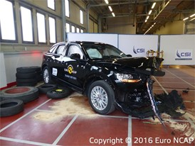 Audi Q2 - Frontal Offset Impact test 2016 - after crash