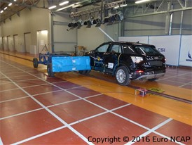 Audi Q2 - Side crash test 2016 - after crash