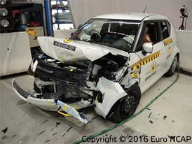 Suzuki Ignis - Frontal Offset Impact test 2016 - after crash