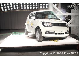 Suzuki Ignis - Pole crash test 2016