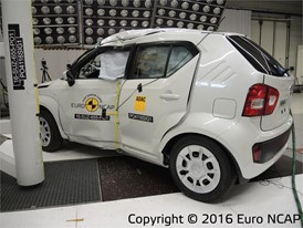 Suzuki Ignis  - Pole crash test 2016 - after crash
