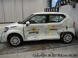 Suzuki Ignis - Side crash test 2016 - after crash