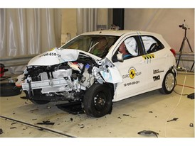 Ford Ka+ - Frontal Offset Impact test 2017 - after crash