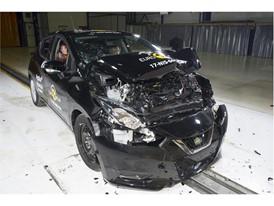Nissan Micra - Frontal Full Width test 2017 - after crash