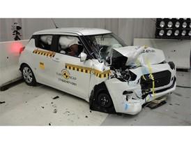 Suzuki Swift - Frontal Offset Impact test 2017 - after crash