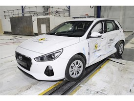 Hyundai I30  - Side crash test 2017-after crash