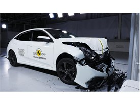 Honda Civic- Frontal Full Width test 2017 - after crash