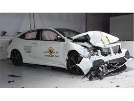 Honda Civic- Frontal Offset Impact test 2017 - after crash