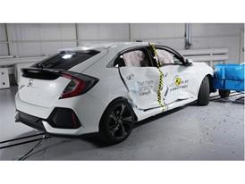 Honda Civic  - Side crash test 2017-after crash