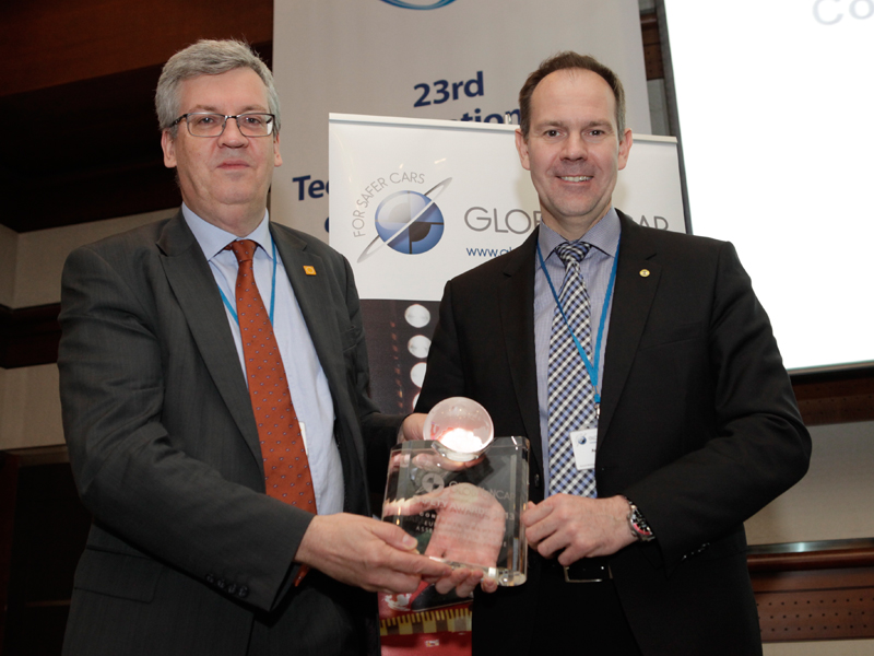 Euro NCAP receives Global NCAP Award