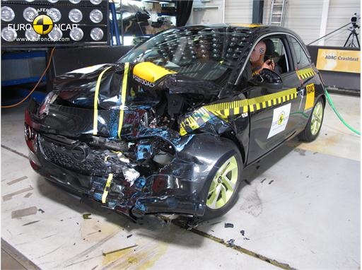 Opel/Vauxhall Adam - Frontal crash test 2013 - after crash