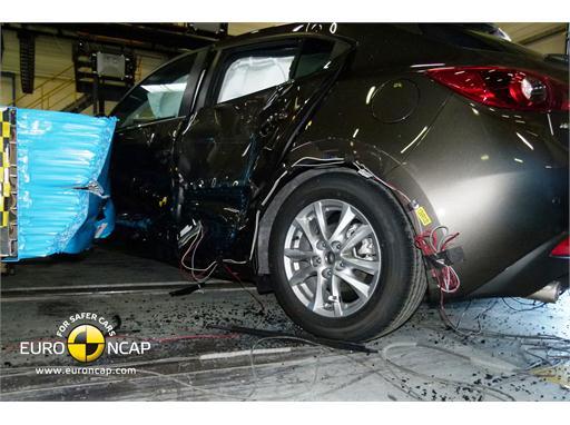 Mazda 3 -Side crash test 2013 - after crash