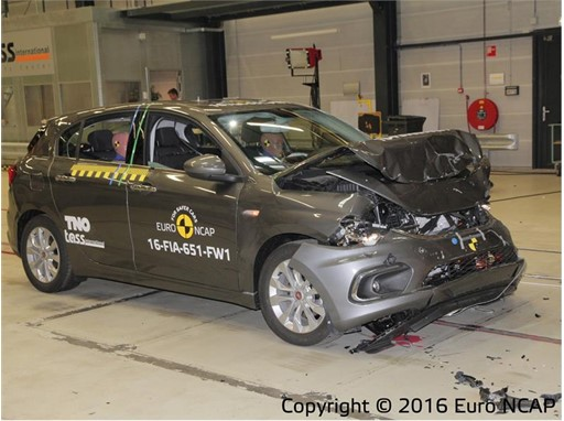 Fiat Tipo - Frontal Full Width test 2016 - after crash