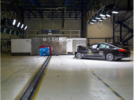 BMW 5-Series - Frontal Offset Impact test 2017 - after crash