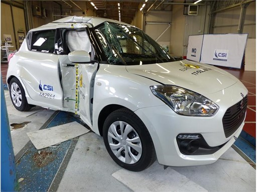 Suzuki Swift - Pole crash test 2017 - after crash