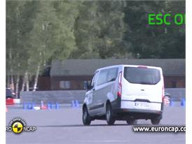 Ford Transit Custom -  ESC test 2012
