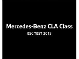 Mercedes-Benz CLA Class  - ESC Test 2013