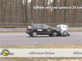 Nissan Qashqai  - AEB Test 2014