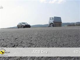 Mercedes C-Class  - AEB Test 2014