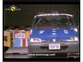 Crash test video Rover 100 1997