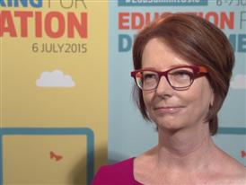 Interview with the chair of the Board of Directors of the Global Partnership for Education Julia Gillard about global ed
