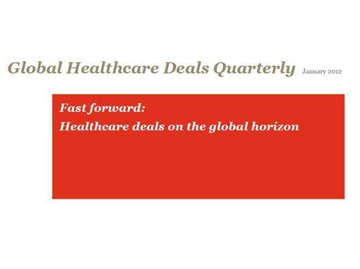 Global Healthcare deals Newsletter (cover image)