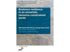 Carbon Disclosure Project Global 500 Report: Extreme weather events drive climate change up board-room agenda in 2012