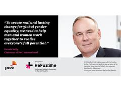 PwC Calls on All its People to Support #HeForShe and Take Action for Gender Equality