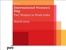 International Women's Day: PwC Women in Work Index
