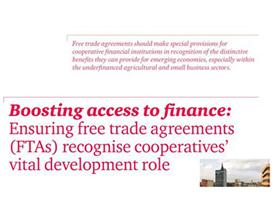 Boosting access to finance: Ensuring Free trade agreements recognise cooperatives' vital development role