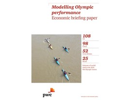 The economics of sport:  PwC study seeks to benchmark Olympic medals tally
