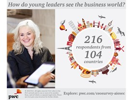 How do young leaders see the business world?