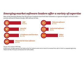 Emerging markets software leaders offer a variety of expertise
