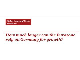 Eurozone's reliance on Germany for economic growth looks shaky