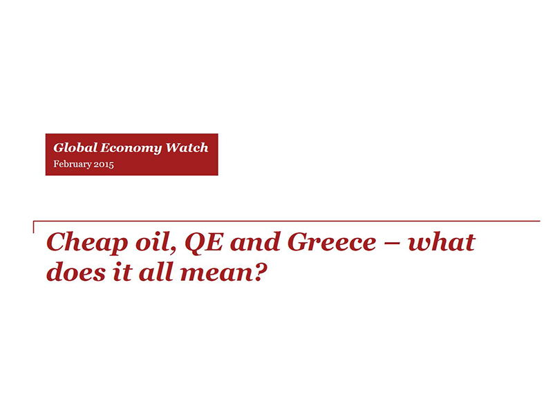 Cheap oil, QE, and Greece -- what does it all mean?