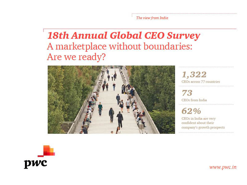 18th Annual Global CEO Survey: A marketplace without boundaries. Are we ready?
