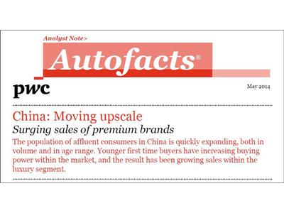 Automakers Hungry For Chinese Luxury Car Market PwC's Autofacts