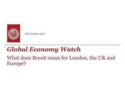 Global Economy Watch - July / August 2016