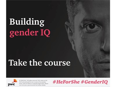 "UN Women's HeForShe Initiative and PricewaterhouseCoopers International Limited (PwC) Launch Online ""Building Gender IQ"" Course"