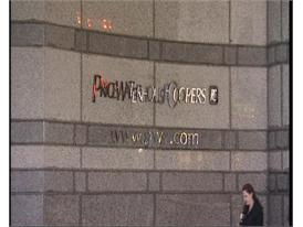 PricewaterhouseCoopers signage, London
