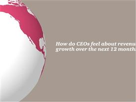 1. How do CEOs feel about revenue growth over the next 12 months?
