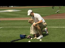Eli Manning at New York Mets Pampers B-roll